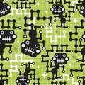 Robot monkey seamless pattern vector texture Royalty Free Stock Photos