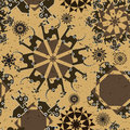 Robot and monsters cute seamless pattern. Royalty Free Stock Image