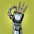 Robot OK okay gesture hand Royalty Free Stock Photo