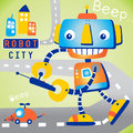 Robot playing toy