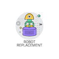Robot Replacement Machinery Industrial Automation Industry Production Icon