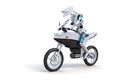 Robot Riding Motorcycle Royalty Free Stock Photography