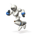 Robot to dash is with the head bent forward Stock Images