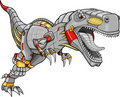 Robot Tyrannosaurus Dinosaur Vector Royalty Free Stock Photo