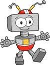 Robot Vector Illustration Royalty Free Stock Photo