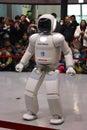 Robot walking around doing a demo at museum japan tokyo Stock Images