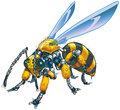 Robot Wasp Vector Clip Art Illustration Stock Image