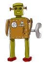 Robota mężczyzna sztuki linii obraz Zdjęcia Stock