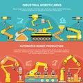 Robotic Arm Flat Composition