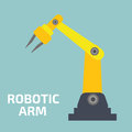Robotic arm vector illustration stock line mechanic manufacturing Stock Images