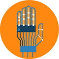 Robotic Hand Abstract Icon illustration.