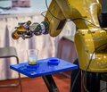 Robotic pouring beer