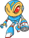 Robotic Warrior Vector Illustration Royalty Free Stock Photo