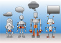 Robots family Royalty Free Stock Images