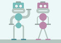 Robots male and female also available as a Royalty Free Stock Photography