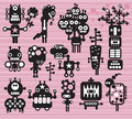 Robots and monsters collection vector illustration Stock Image