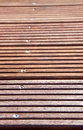 Robust decking weatherproof wood planks for terrace Royalty Free Stock Photo