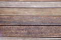 Robust decking weatherproof wood planks for terrace Royalty Free Stock Image