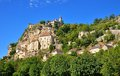 Rocamadour a beautiful french village on a cliff in midi pyrenees Royalty Free Stock Photo