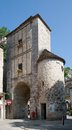 Rocamadour france the historic gate in town in southwest Royalty Free Stock Images