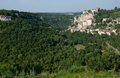 Rocamadour france the historic town of and the monastery is an important pilgrimage site in southwest Stock Photo