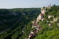 Rocamadour france the historic town of and the monastery is an important pilgrimage site in southwest Stock Photos