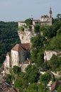 Rocamadour france the historic town of and the monastery is an important pilgrimage site in southwest Stock Images
