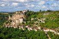 Rocamadour medieval village landscape view Royalty Free Stock Photography