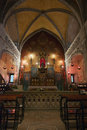 Rocamadour sanctuary the in lot france this is the notre dame chapel with the black madonna october the wooden figure is reputed Stock Image