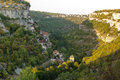 Rocamadour from south Royalty Free Stock Image
