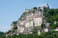 Rocamadour view on the village of in france Royalty Free Stock Photography