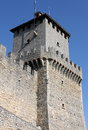 Rocca della guaita in san marino the most ancient fortress of republic Stock Image