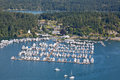 Roche harbor san juan washington beautiful marina of on island in state usa Stock Images