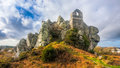 Roche rock cornwall england ruins of st michaels chapel on the granite outcrop known as mid uk europe Stock Photography