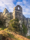 Roche rock cornwall england ruins of st michaels chapel on the granite outcrop known as mid uk europe Royalty Free Stock Image