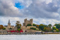 Rochester castle cathedral uk Royalty Free Stock Photo