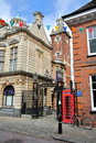ROCHESTER, UK - APRIL 14, 2017: The entrance to The Guildhall Museum Royalty Free Stock Photo