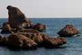 The rock of Aegean Sea Royalty Free Stock Photography