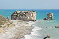 Rock of aphrodite cyprus europe october birth place the goddess love on october in south Royalty Free Stock Image