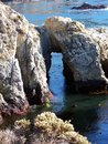 Rock Arch at Point Lobos, California Royalty Free Stock Photo
