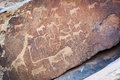 Rock art engravings, Twyfelfontein World Heritage Site, in Damaraland, Namibia Royalty Free Stock Photo
