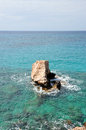 Rock ayia napa cyprus rocks shore Stock Image
