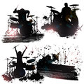 Rock Band Members Royalty Free Stock Photos