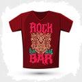 Rock Bar T shirt design template Royalty Free Stock Photo