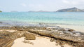 Rock beach and clear seawater in south east asia Royalty Free Stock Images