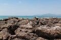 Rock on beach of tropical sea thailand Royalty Free Stock Photos