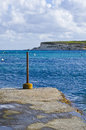 Rock beach in winter malta rocky view south of Stock Image