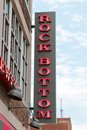 Rock bottom brewery and resturant downtown nashville tennessee an american food eatery beer located on broadway street in it Royalty Free Stock Images