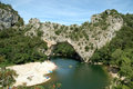 Rock Bridge - Pont d'Arc Royalty Free Stock Images