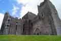 Rock of cashel the ruins an ancient monastery where st patrick used to preach sits atop a hill above the town in Stock Images